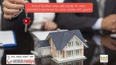 Konut fiyatları artışı yıllık yüzde 31 oldu. Müstakil evlerde ise bu oran yüzde 64'ü geçti!